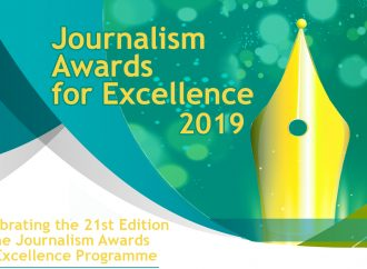 Applications and brochures of the Journalism Awards for Excellence